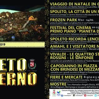 Dal 06 Dicembre prende il via Spoleto d'Inverno con tantissimi eventi!